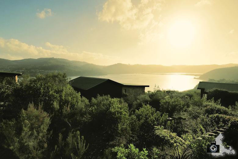 Elephant Hide of Knysna Guest Lodge - Aussicht bei Sonnenuntergang