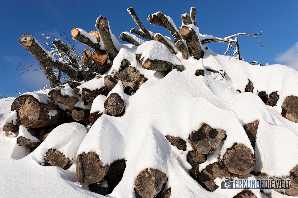 Beispielbild Canon 24-70 L IS USM - Holz im Winter