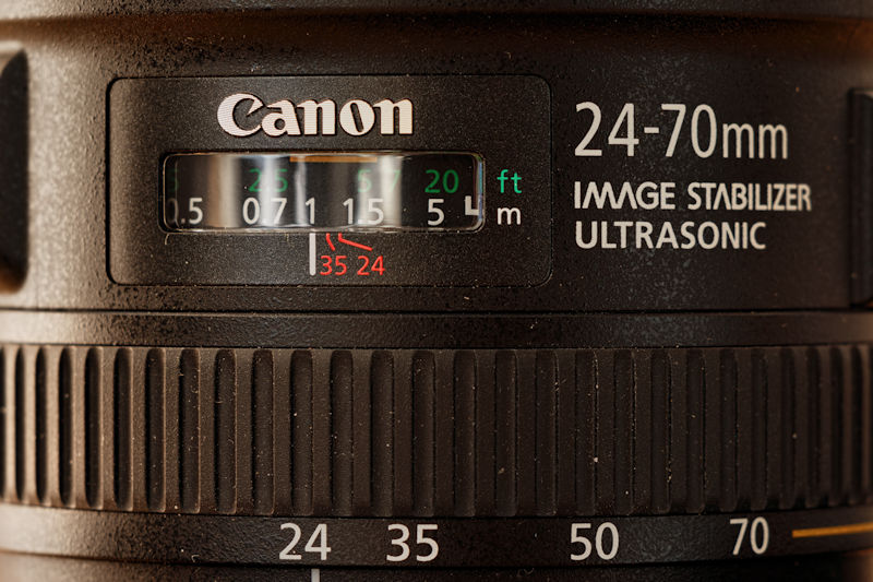 Canon 24-70 L IS USM - Mechanisches Display