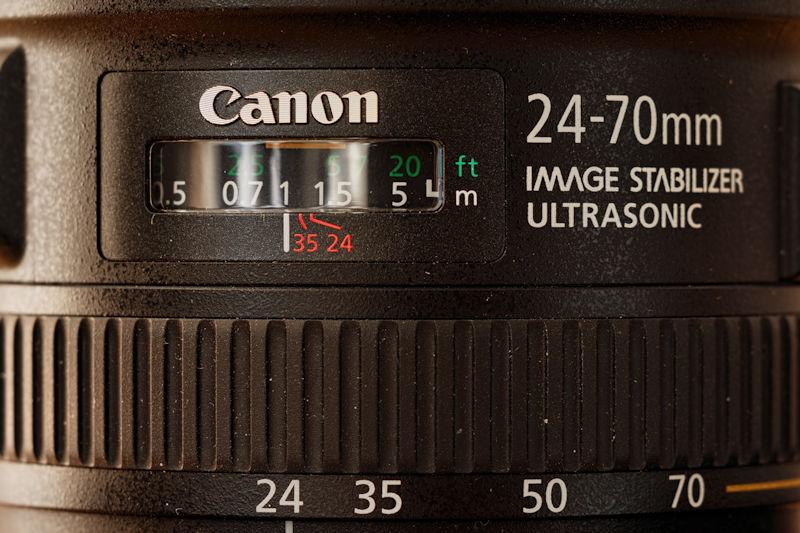 Canon 24-70 L IS USM - Mechanisches Display