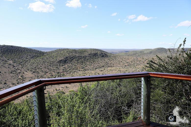 Kuzuko Lodge - Ausblick von der Terrasse