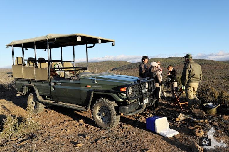 Game Drive auf Kuzuko im Addo Elephant Nationalpark - Sundowner