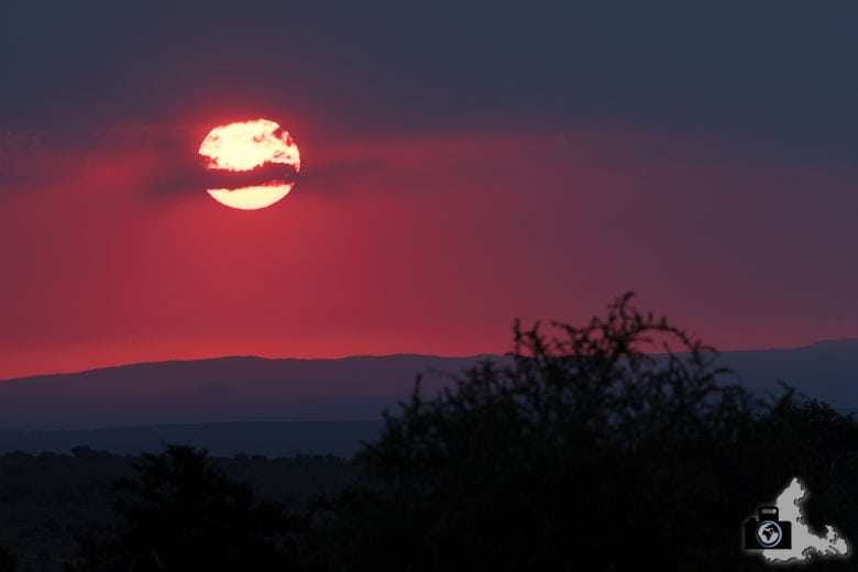 Sonnenuntergang im afrikanischen Busch