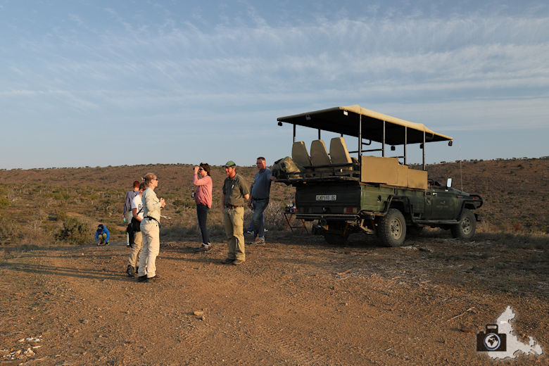 Sundowner im afrikanischen Busch während der Safari