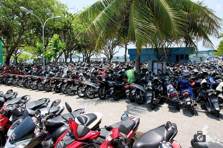 Male auf den Malediven - Motorräder