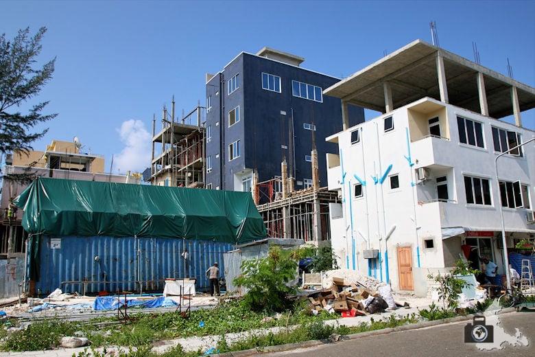 Hulhumale auf den Malediven - eine einzige Baustelle
