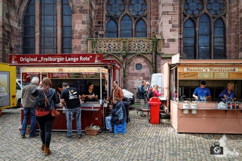 Freiburger Münster - Streetfood auf dem Münstermarkt