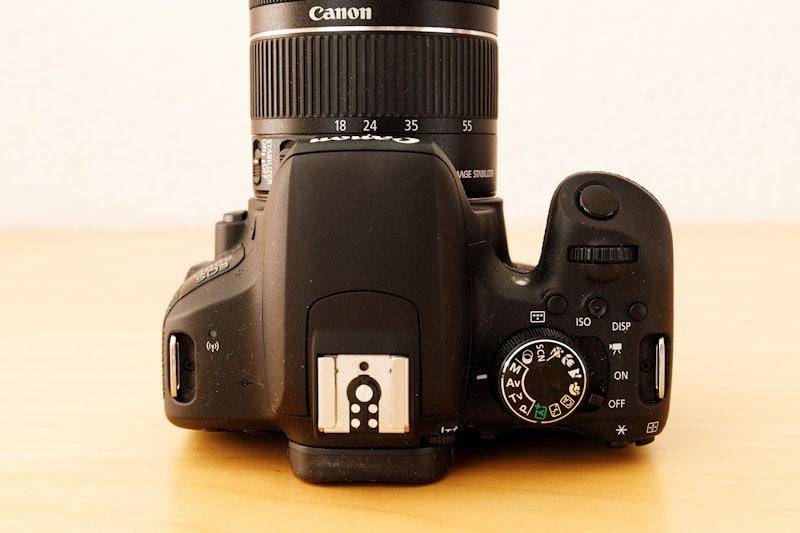 Canon EOS 800D - Draufsicht
