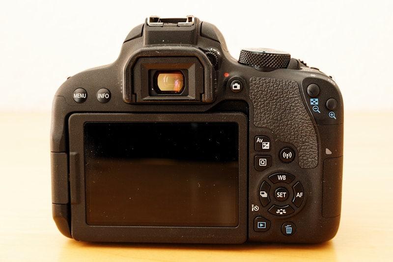 Canon EOS 800D - Rückseite