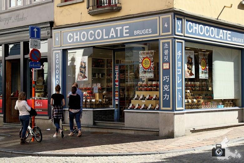 Schokoladengeschäft in Brügge