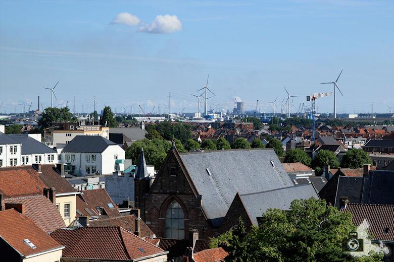 Aussicht von Burg Gravensteen in Gent