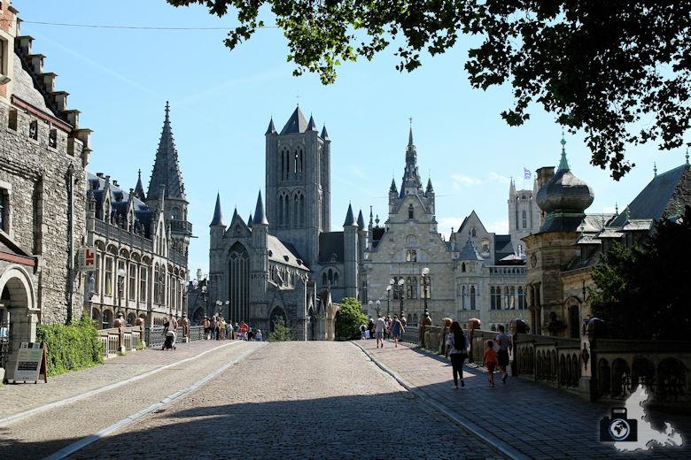 Blick über die Sint-Michielsbrug in Gent