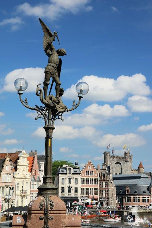 Blick von der Sint-Michielsbrug in Gent