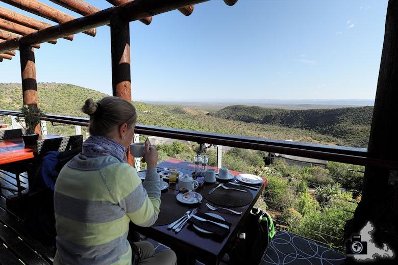Frühstück in der Kuzuko Lodge im Addo Elephant National Park