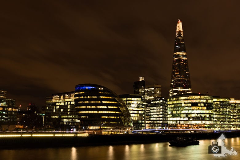 Fotowalk - London Nachtaufnahmen - Skyline mit The Shard