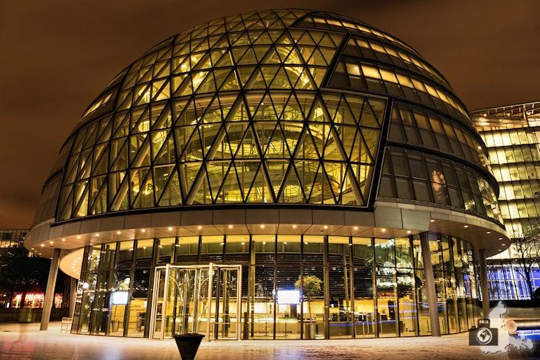 Fotowalk - London Nachtaufnahmen - Moderner Komplex
