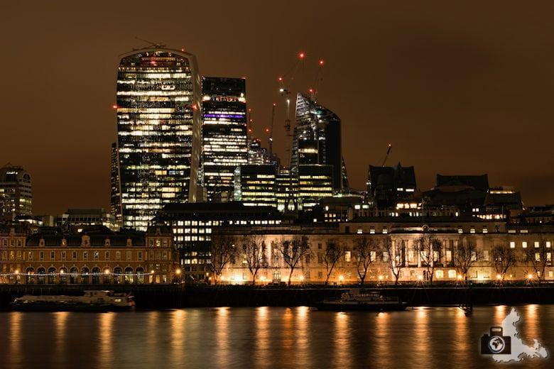 Fotowalk - London Nachtaufnahmen - Skyline mit Sky Garden