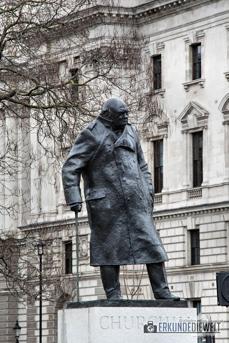 Churchill Statue. London, Großbritannien
