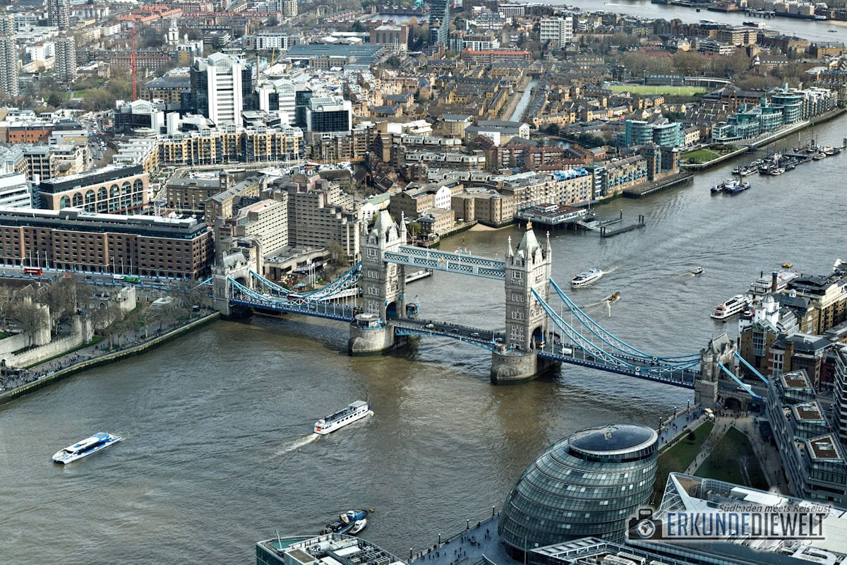 View from The Shard, London, Großbritannien