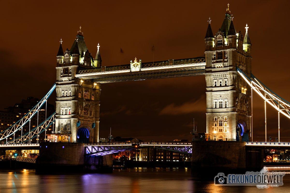 London bei Nacht - Tower Bridge