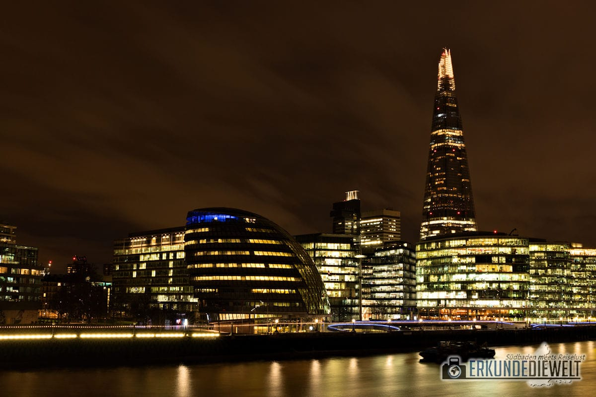 London bei Nacht - The Shard