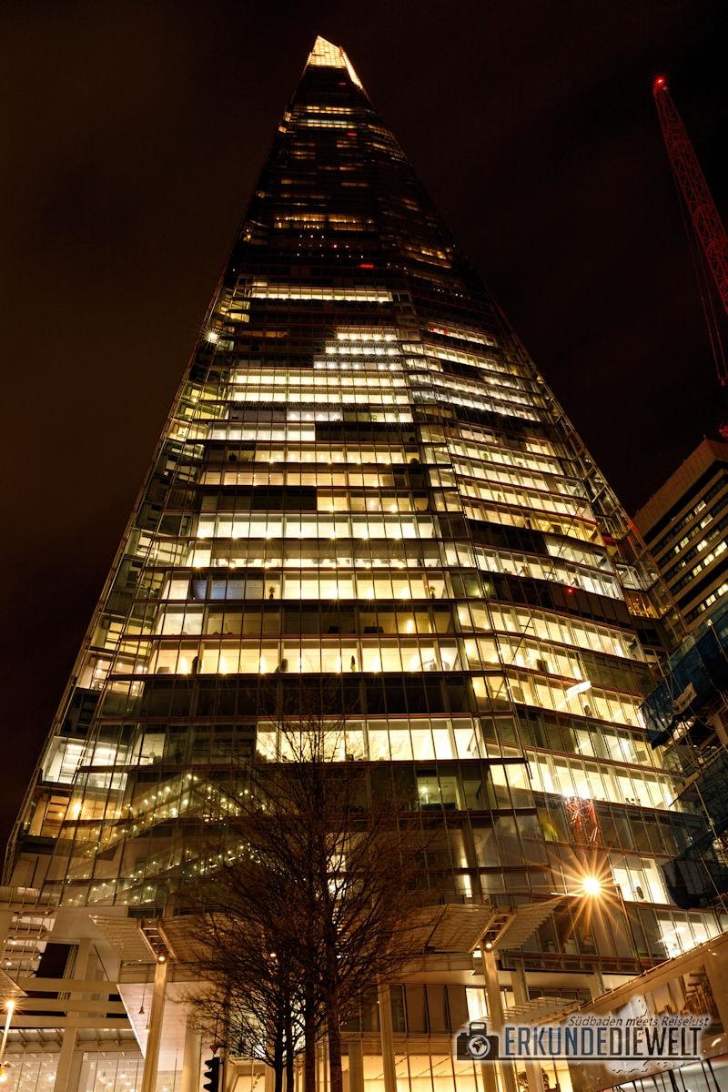 London bei Nacht - The Shard