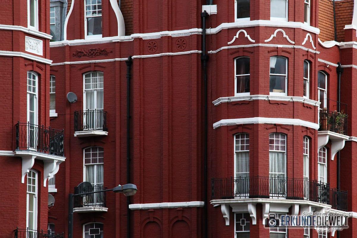 Häuserfassade, London, Großbritannien