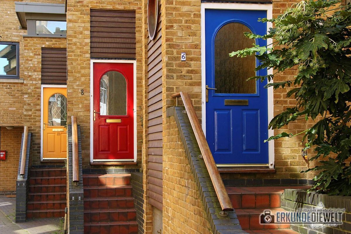 Bunte Türen, Greenwich, London