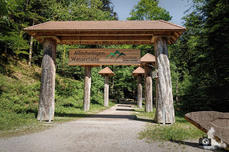Allerheiligen Wasserfälle im Schwarzwald - Eingang