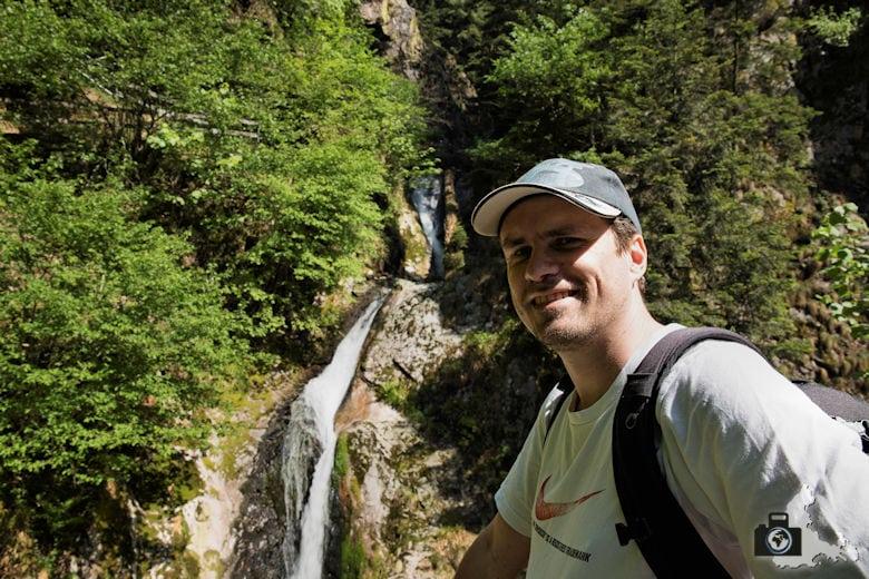 Allerheiligen Wasserfälle im Schwarzwald - Selfie