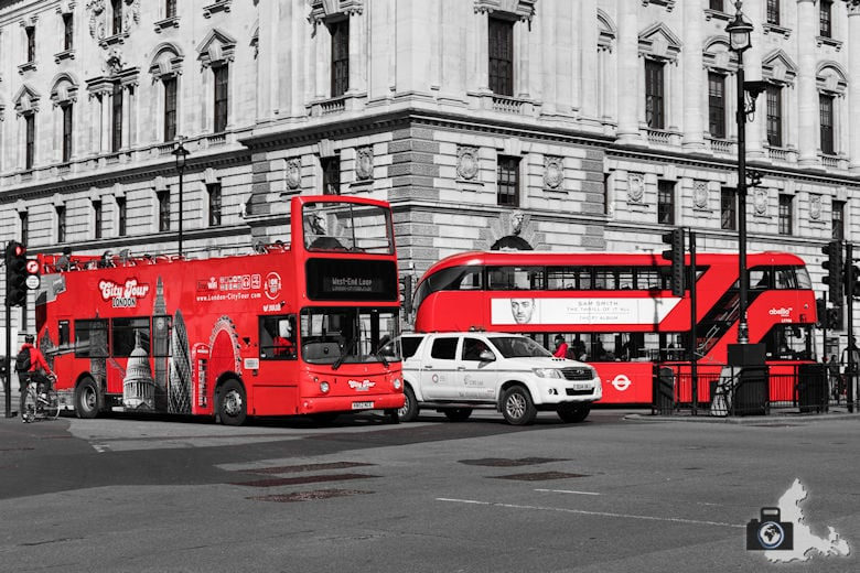 London Sightseeing - rote Busse