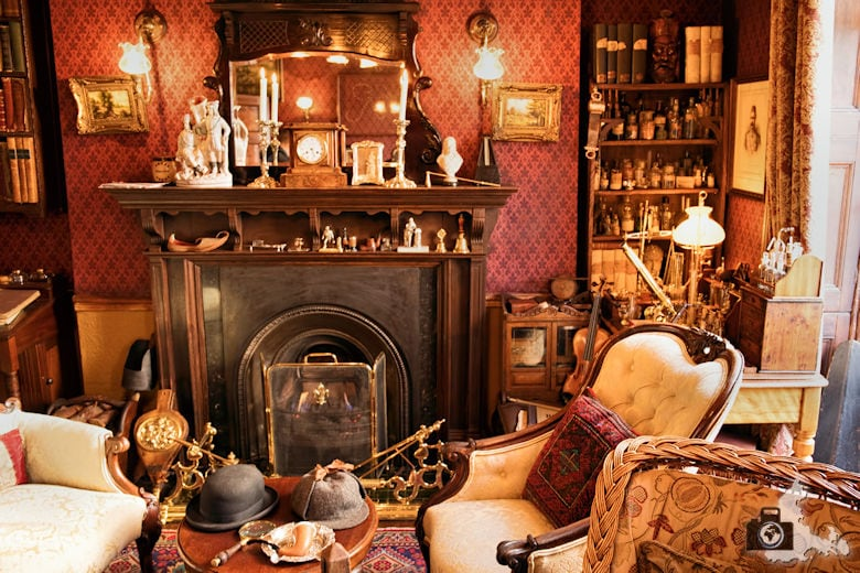Sherlock Holmes Museum in London in der Baker Street 221b - Wohnraum
