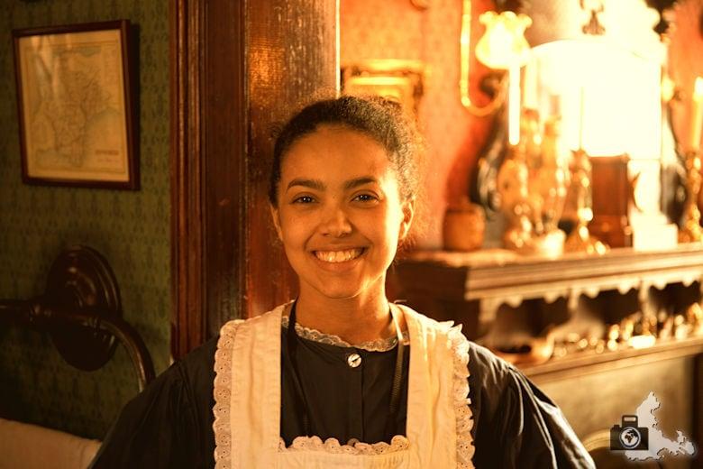Sherlock Holmes Museum in London in der Baker Street 221b - Zimmermädchen