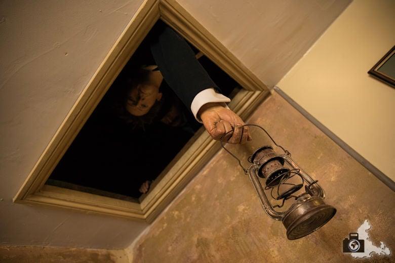 Sherlock Holmes Museum in London in der Baker Street 221b - Wachsfiguren