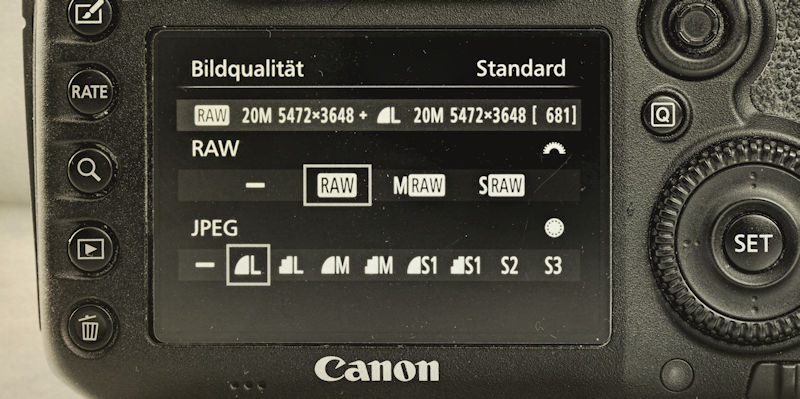 Fotografie Tipps - RAW Format