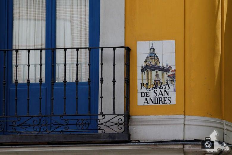Sehenswürdigkeiten in Madrid - Straßenschild