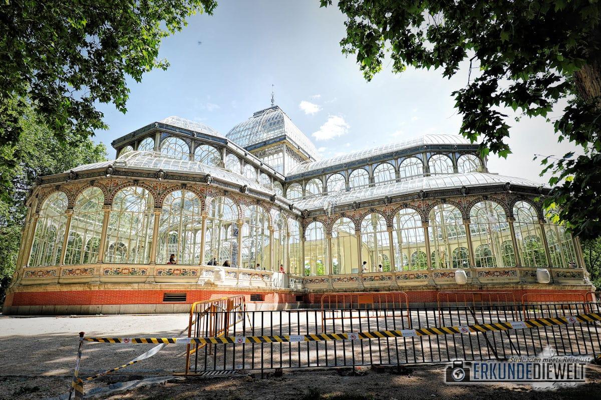 Kristallpalast, Retiro-Park, Madrid, Spanien