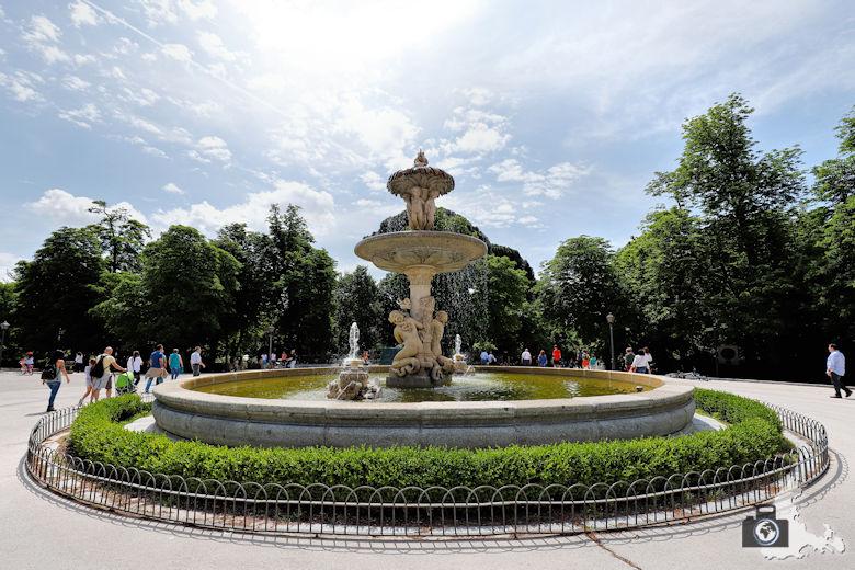 Retiro Park in Madrid - Springbrunnen
