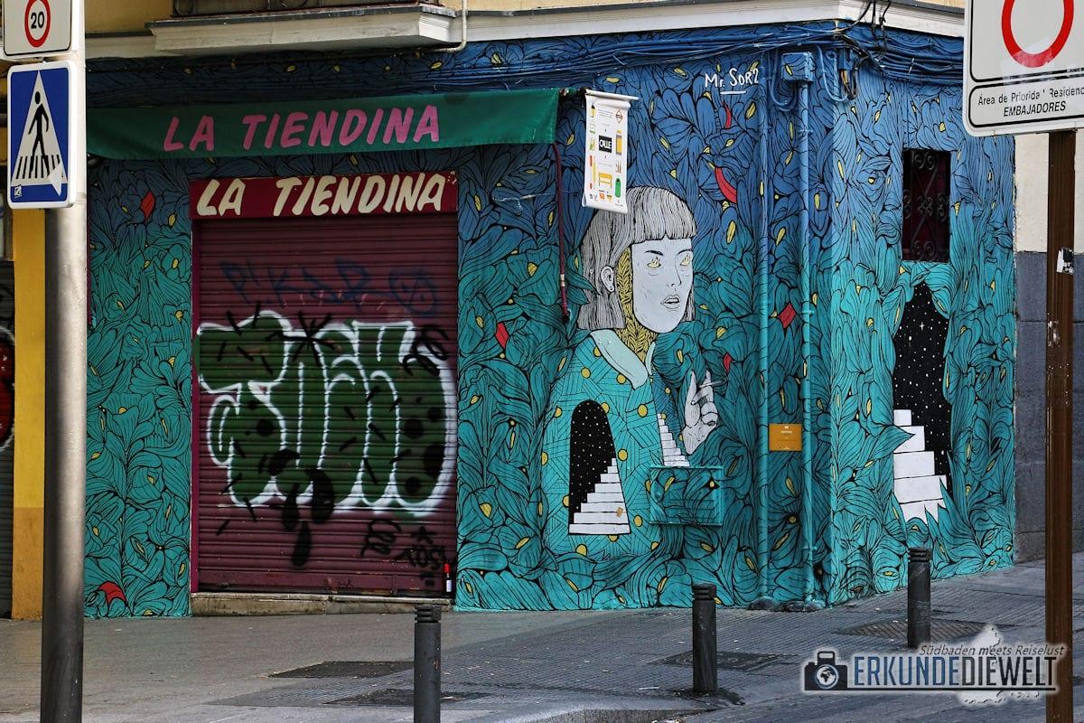 Streetart, Madrid, Spanien
