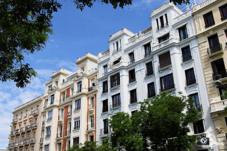 Madrid - Häuserfassade