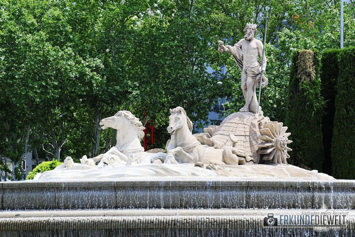 Neptunbrunnen, Madrid, Spanien