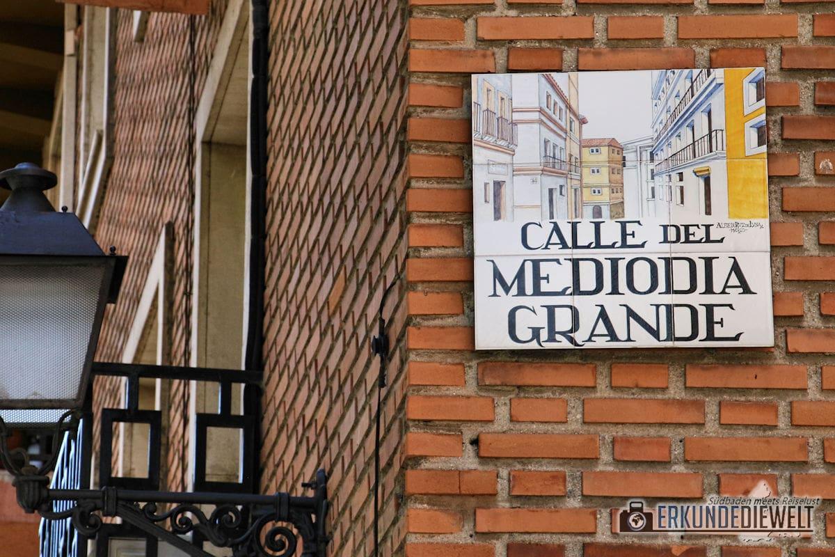 Straßenschild Madrid, Spanien