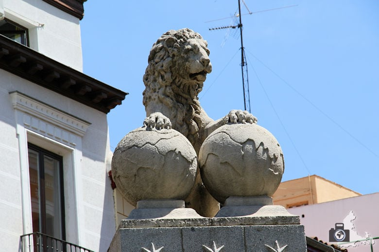 Löwenstatue in Madrid