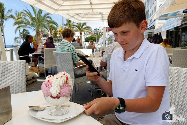 Reisebericht La Palma - Puerto de Naos - Eis essen