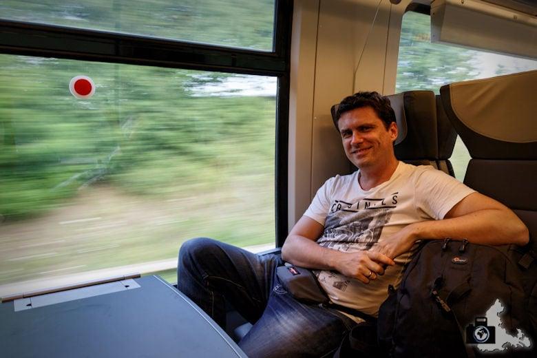 Mit dem bwegt Zug unterwegs
