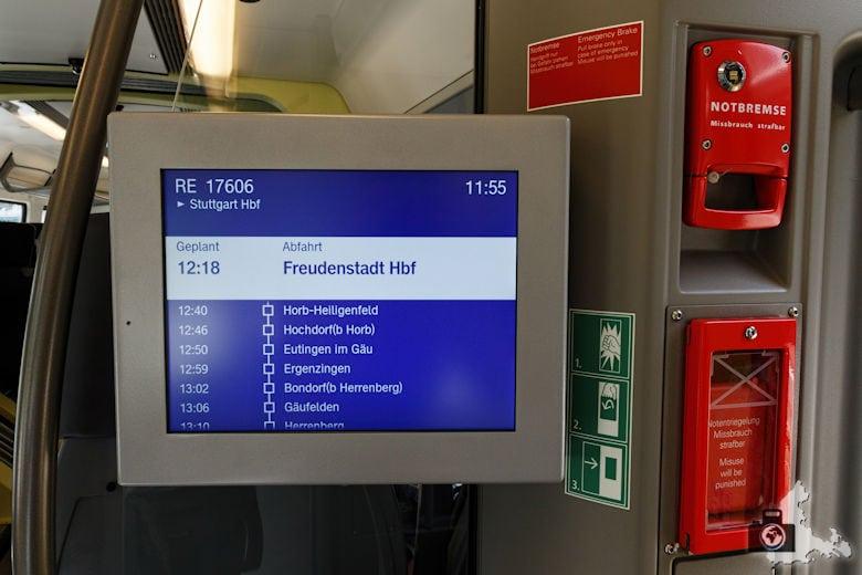 bwegt Zug - Anzeigetafel