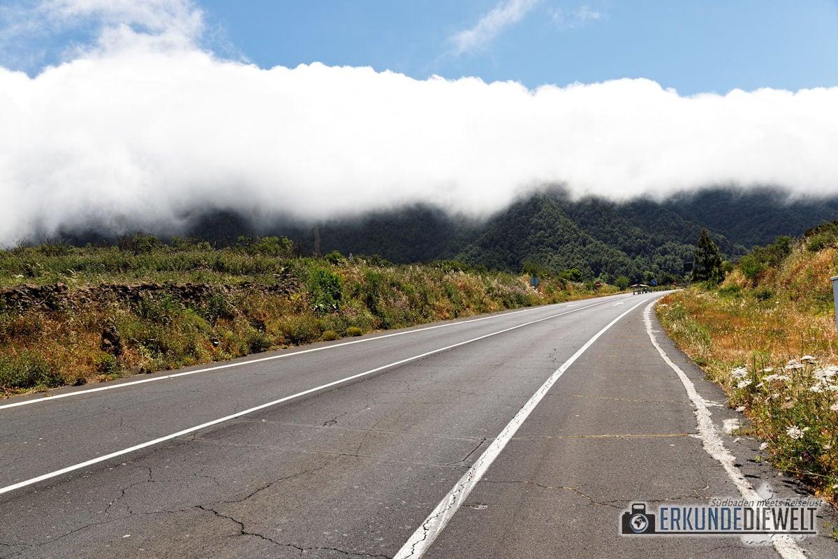 Niedrige Wolken, La Palma, Kanaren