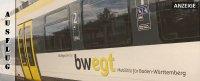 Mit dem bwegt Zug von Freudenstadt über Herrenberg nach Böblingen