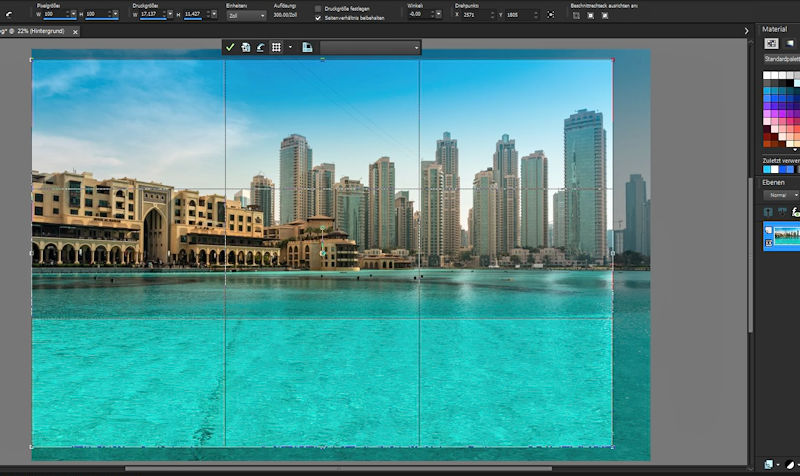 Bildbearbeitung in PaintShop Pro - Zuschneiden mit Drittelregel