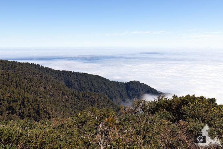 La Palma, Aussicht über den Wolken aufs Meer
